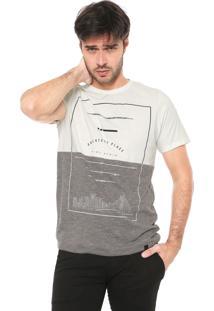 Camiseta Dimy Bicolor Off-White/Cinza