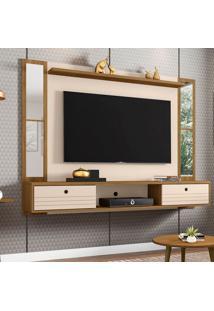 Painel Pra Tv Até 60 Polegadas Ametista Espelho Cinamomo E Off White