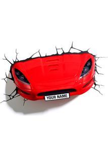 Luminaria Carro Esportivo 3D Plastico Vermelho