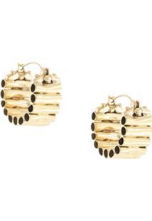 Ellery Pawn Vessel Hoop Earrings - Dourado
