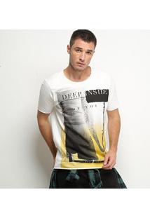 Camiseta Derek Ho Deep Inside Black Masculina - Masculino-Off White