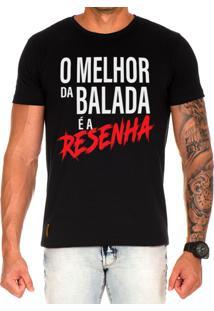 Camiseta Lucas Lunny T Shirt Estampada O Melhor Da Balada Preto