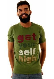 Camiseta Oitavo Ato Get Your Self Masculina - Masculino-Musgo