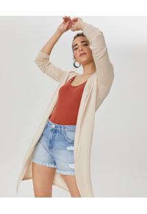 Shorts Jeans Com Puídos E Barra Desfiada