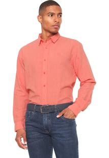 Camisa Timberland Linen Colors Coral