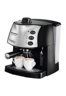 Cafeteira Mondial Espresso Coffee Cream, 2 Xícaras, 800W, 220V, Preto/Prata - C-08