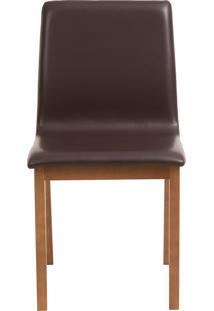 Cadeira Celina - Couro Marrom