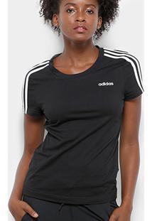 Camiseta Adidas Essentials 3 Stripes Feminina - Feminino