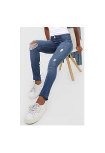 Calça Jeans Lança Perfume Skinny Nix Azul