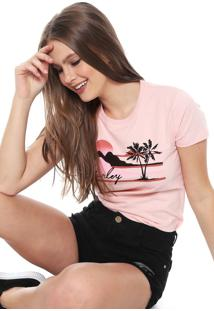 Camiseta Hurley Mellowin Rosa