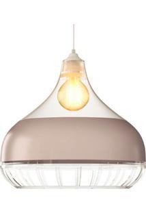 Luminaria Pendente Spirit Combine 1340 Transparente Champanhe Transparente
