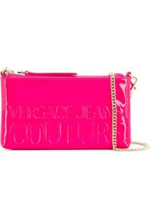 Versace Jeans Couture Embossed Logo Crossbody Bag - Rosa