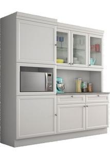 Cozinha Compacta 7 Portas 2 Gavetas Loft Americana Branco Nesher