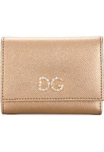 Dolce & Gabbana Carteira Dg Com Cristais - Dourado