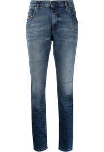 Diesel Calça Jeans Boyfriend Krailey - Azul