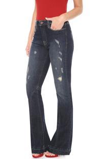 Calça Jeans Carmim Bootcut Duomo Azul