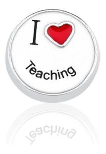 Pingente Folheado Cápsula Conquistas I Love Teaching