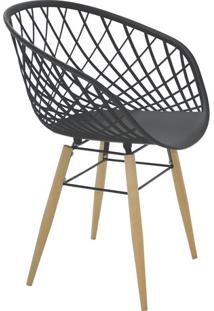 Cadeira Sidera- Preta & Bege- 82X63X55,5Cm- Tramtramontina