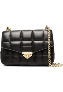 Michael Michael Kors Quilted Square Cross Body Bag - Preto