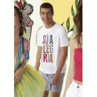 ca262bdf3 Camiseta Masculina Regular Em Malha De Algodão Com Estampa De Frase Hering