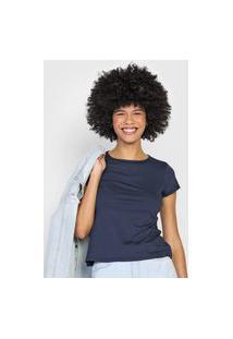 Blusa Malwee Lisa Azul-Marinho
