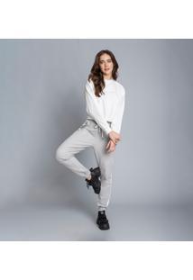 Conjunto Blusão E Calça Jogging Branco Off White - Lez A Lez