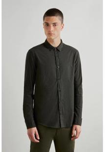 Camisa Reserva Pf Pied Poule Color Masculina - Masculino-Verde Escuro