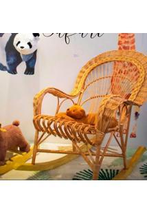 Cadeira De Balanã§O Em Fibra Natural - Incolor - Dafiti