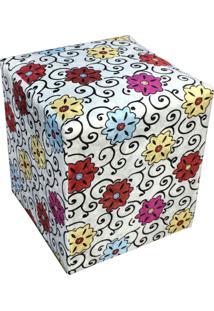 Puff D'Rossi Dado Quadrado Estampado Floral Color D17