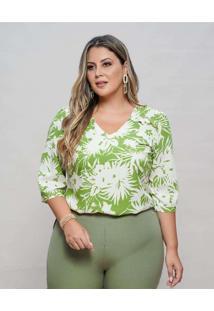 Blusa Almaria Plus Size New Umbi Com Babadinho Ver