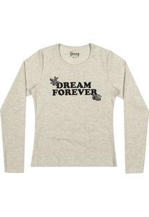 "Blusa ""Dream Forever""- Cinza Claro & Preta- Teenyoung"