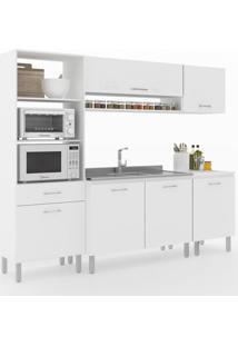 Cozinha Compacta Uccelli 6 Portas 1 Gaveta 600072 Branco - Vedere