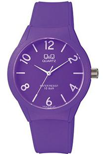 Relógio Qq De Pulso Vr28J018Y Feminino - Feminino-Roxo