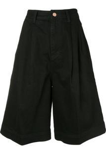 Eenk Bermuda Jeans - Preto