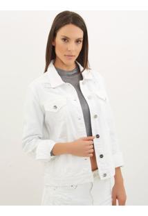 Jaqueta Le Lis Blanc Tradicional Dl Sarja Branco Feminina