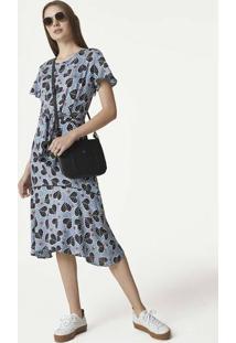 Hering. Vestido Midi Feminino Em Tecido Maquinetado d3baa5486c3