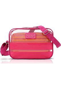 Bolsa Transversal Jacki Design Com 2 Peças - Unissex-Pink