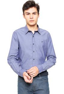 Camisa Ellus Reta Clover Azul