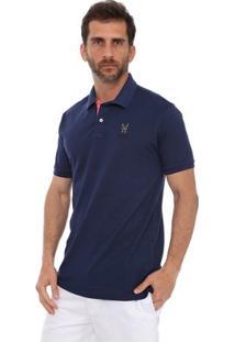 Camisa Polo New York Polo Club Slim - Masculino-Marinho