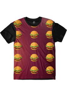 Camiseta Bsc Hamburger Sublimada Preto