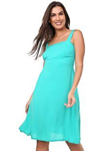 Vestido Mercatto Curto Liso Verde