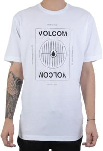 Camiseta Volcom Reverb Masculina - Masculino-Branco