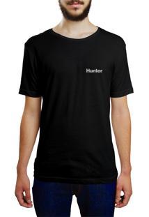 Camiseta Hunter Pink Surf Preta