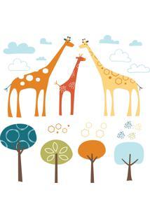 Adesivo De Parede Safari De Girafas Skip Hop Laranja