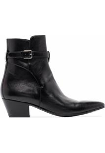 Saint Laurent Ankle Boot Wyatt Jodhpur - Preto