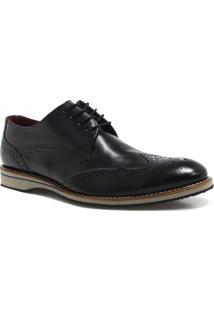 Sapato Brogue Zariff Shoes Em Couro
