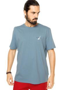 Camiseta Nautica Estampada Azul