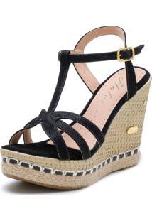 Sandália Sb Shoes Anabela Ref.3230 Preto - Tricae