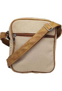 b4589cf7413e5 ... Bolsa Use Fast Carteiro Lona Pequena - Unissex-Bege