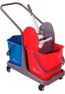 Balde Espremedor Doblô Com Capacidade Para 50 Litros - Vermelho / Azul - Bralimpia